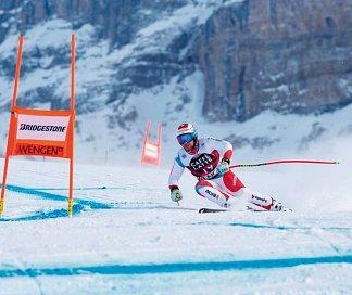 90. Lauberhorn-Rennen von Wengen, Schweiz, Berner Oberland, Wengen, Bild 1