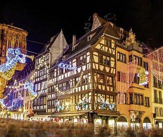 Weihnachtsmärkte im Elsass, Frankreich, Elsass, Riquewihr/Strassburg/Colmar, Bild 1