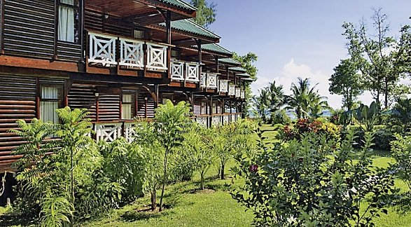 Hotel Acajou Beach Resort, Seychellen, Insel Praslin, Côte d'Or, Bild 1