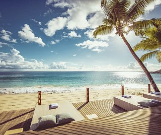 Carana Beach Hotel, Seychellen, Insel Mahé: Carana-Strand, Bild 1